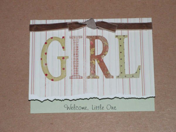 Welcome Baby Girl  Greeting Card - CCwg