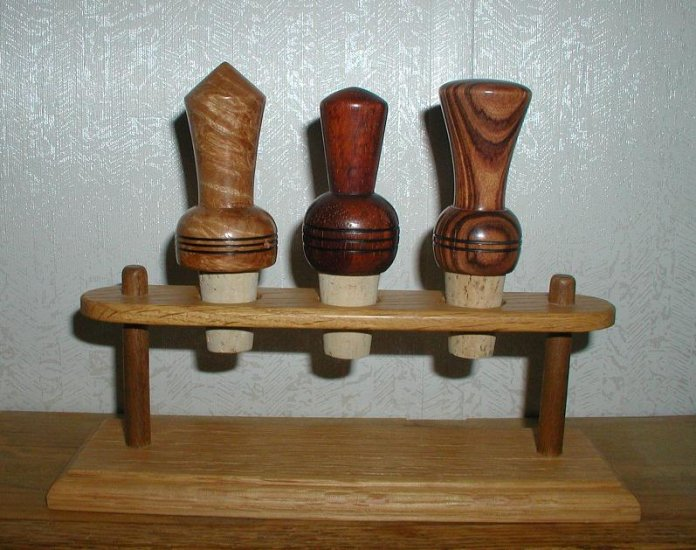 Wine Bottle Stoppers - Set of 3 - WAwb