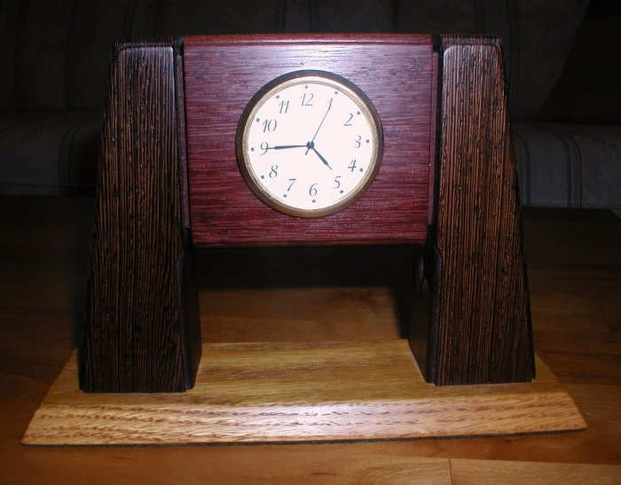 Hand Crafted Wood Clock - WAwc