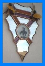 Stained Glass Arrowhead with Symbol - SGar