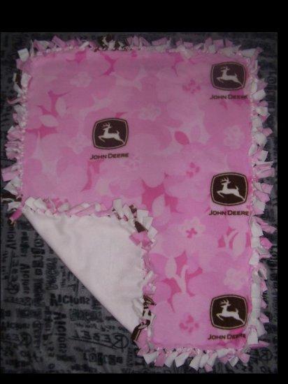 Pink John Deere Fleece Blanket - BTjd