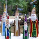 Whimsical Folk Art Father Christmas Figurines - OC10