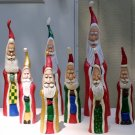 Whimsical Folk Art Father Christmas Figurines  - OC8.5