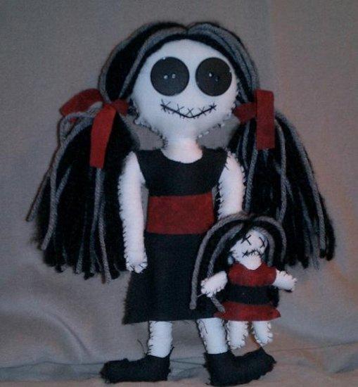 """11"""" Goth Punk Worry Doll - EPL11"""