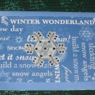 Blue Snowflakes Greeting Card - CTbs