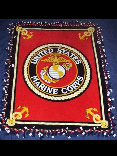 United States Marine Corps Fleece Blanket - BTus