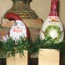 Santa or Snowman Gourd - PJss