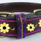 Leather Flower Collar - DDlf