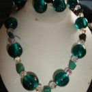 Turquoise & Teal Ball Necklace & Earring Set - CGtb