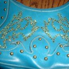 SALE! Turquoise Purse With Swarovski Crystals - CGtu