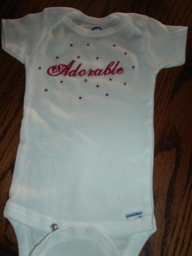 Adorable Onsie With Red Crystals - CGrc