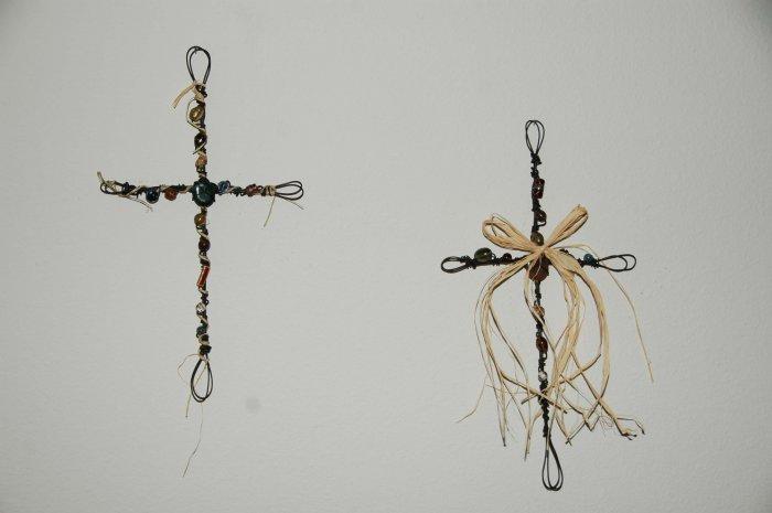 Handmade Beaded Cross - BCbc