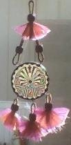 Stained Glass Hopi Indian Man in the Maze Suncatcher/Dreamcatcher - SGho