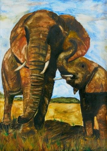 Mommy and Me Elephants - NWmm