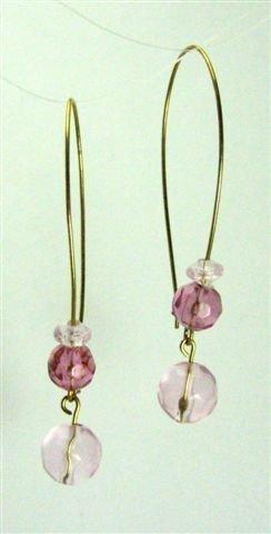 Pink Drops Earrings - UEpd
