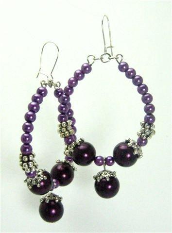 Purple Pearl Earrings - UEpu