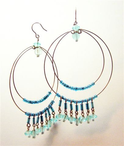 Teal Cleopatra Earrings - UEtc