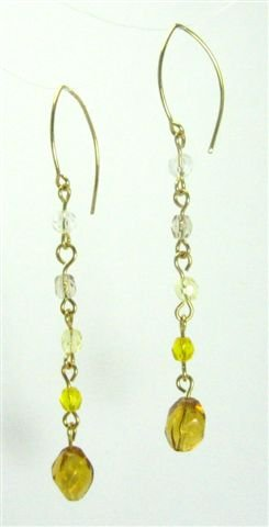 Golden Hued Earrings - UEgh
