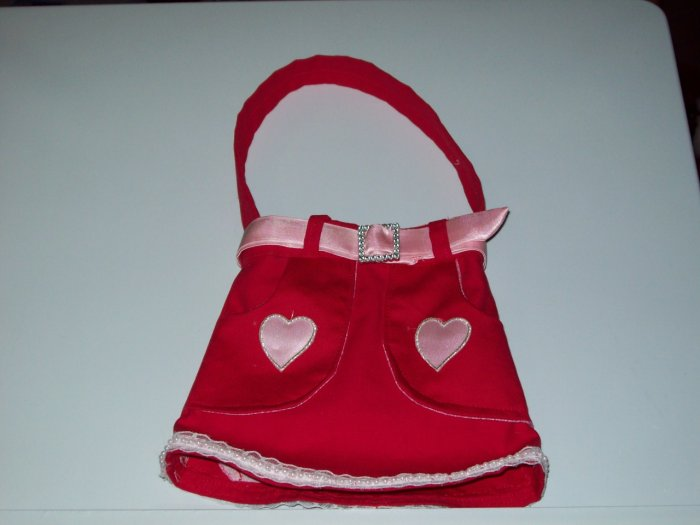 Red With Pink Heart Purse - PPrp