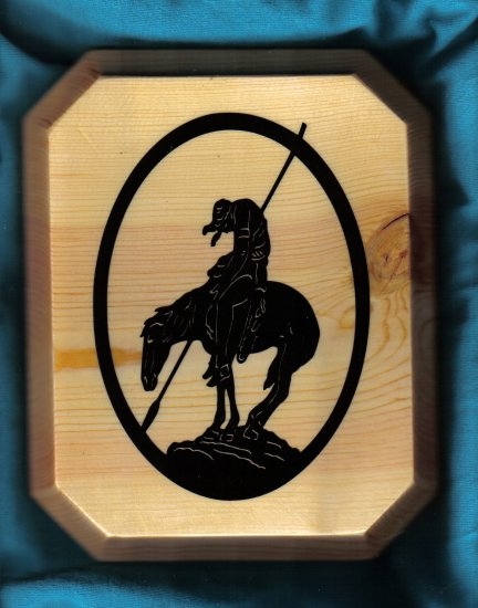 Indian Warrior Wall Plaque - JWiw