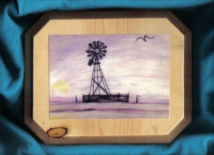 Windmill on the Prairie Wall Plaque - JWwm