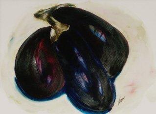 Eggplant Watercolor - NWeg