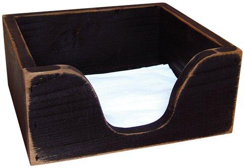 Black Wood Napkin Holder - GKC011