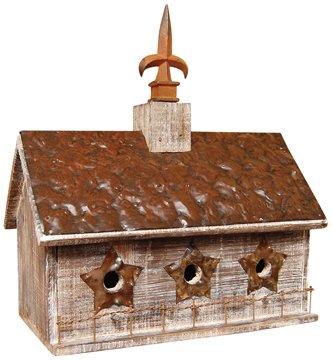 Rustic 3 Hole Birdhouse - GJHE5104
