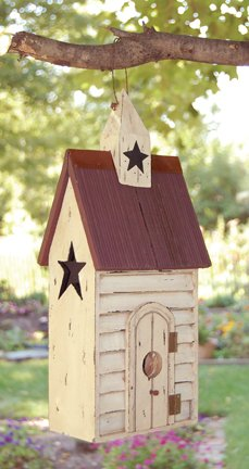 Burgundy Roof Birdhouse - GJHE5691A