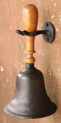 Cast Iron Dinner Bell with Hook - G112260