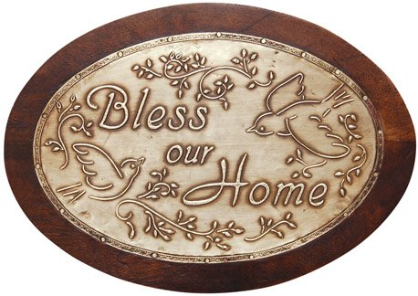 Bless Our Home Pewter Sign - G110636