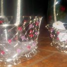 Wire & Beaded Heart Storage Baskets (2) - DDwb