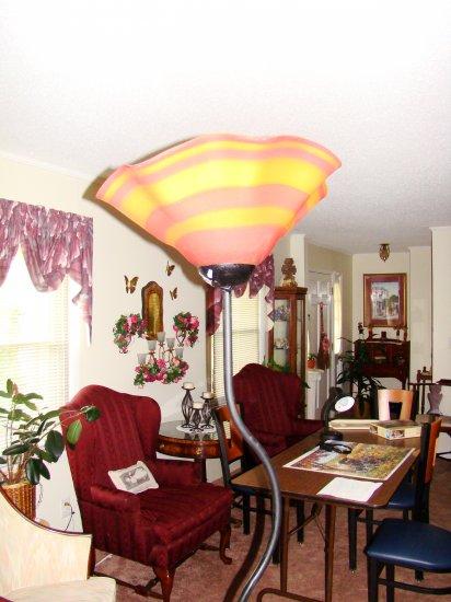 Orange and Purple Glass Floor Lamp - MXol