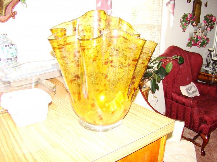 Animal Print Hand-Blown Glass Vase - MXav
