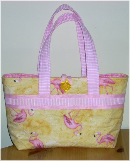 Pink Flamingo Quilted Purse - KK01222271