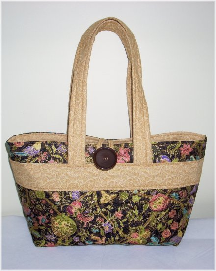 Brown Floral Quilted Purse - KK01224999