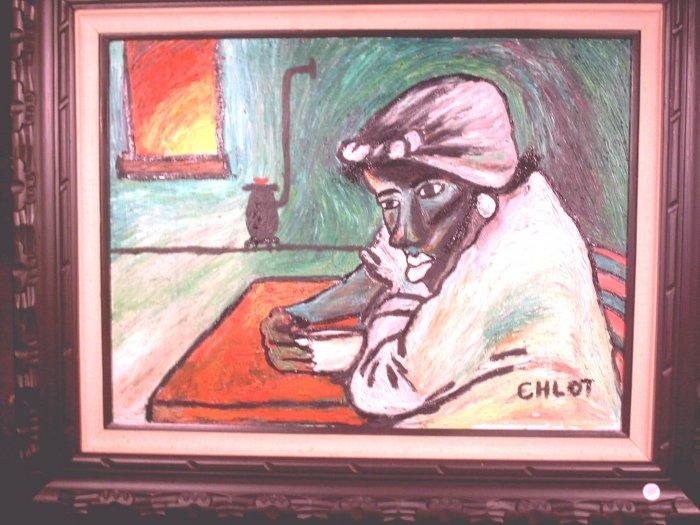 Morning Coffee Folk Art - AFMHmc