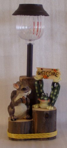 Squirrel & Frog Welcome Solar Light - CCsf