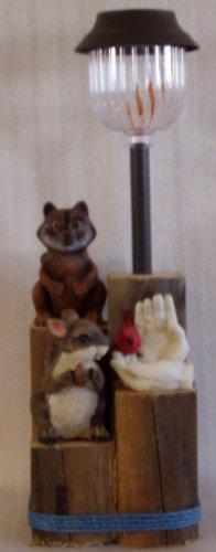 Squirrel, Racoon & Cardinal Birdfeeder Solar Light - CCsr