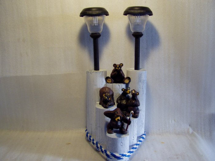 Three Bears and Bear Couple Solar Light - CCbc