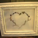 Shabby Chic Pressed Flower Heart - CRsc