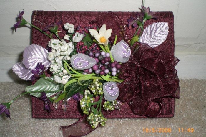 Photo Album Burgundy & Lavender - ADKbl