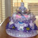 2 Tier Baby Girl Unicorn Diaper Cake - TH2tgu