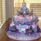 2 Tier Baby Girl Unicorn Diaper Cake - TH2tgu