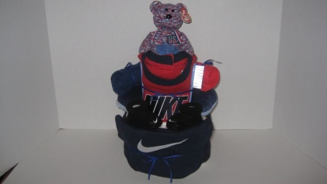 2 Tier Baby Boy Nike Diaper Cake - TH2tbn
