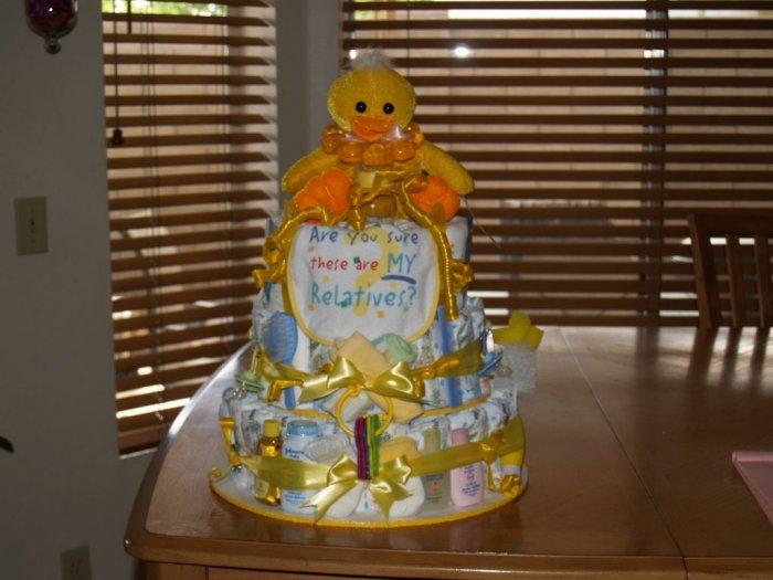 3 Tier Duck Baby Diaper Cake - TH3td