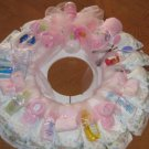 Large Pink Diaper Wreath  - THlpw