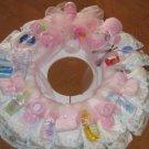 Large Pink Diaper Wreath  - THlpw