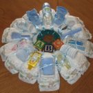 Medium Boy Diaper Wreath  - THmbw