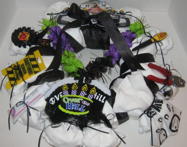Small Over the Hill Diaper Wreath  - THsow